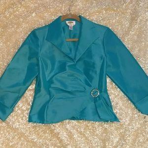 Gorgeous NWT, Turquoise,Talbot's top .Size 8